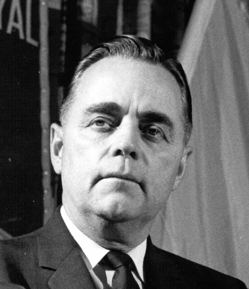 Robert N. Thompson, federal leader of the Social Credit Party of Canada, ca. 1965 (Kenneth Bowe, photographer)