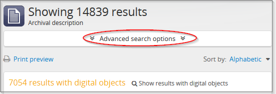 Expand Advanced search options